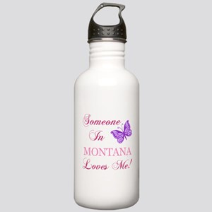 Montana State (Butterfly) Stainless Water Bottle 1
