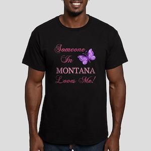 Montana State (Butterfly) Men's Fitted T-Shirt (da