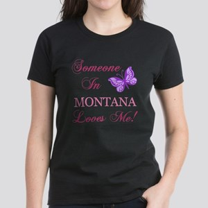 Montana State (Butterfly) Women's Dark T-Shirt