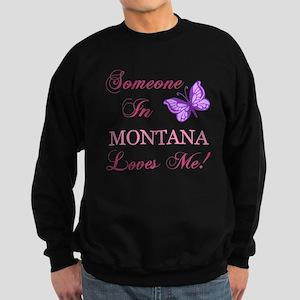 Montana State (Butterfly) Sweatshirt (dark)