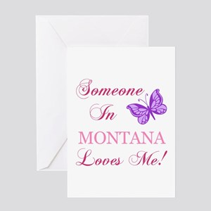 Montana State (Butterfly) Greeting Card