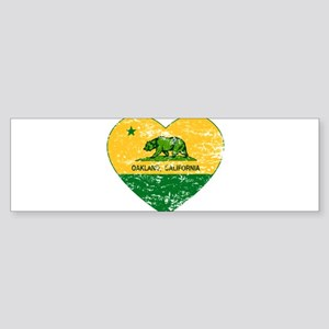 Oakland California green and yellow heart Bumper S