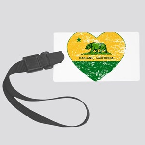 Oakland California green and yellow heart Luggage