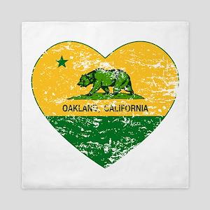 Oakland California green and yellow heart Queen Du