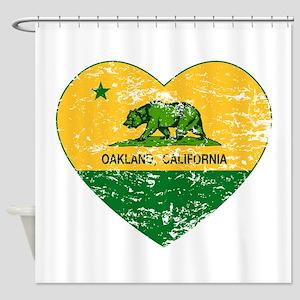 Oakland California green and yellow heart Shower C