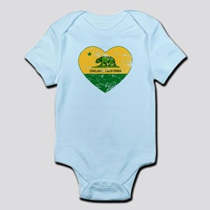 Oakland California green and yellow heart Body Sui