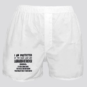 I am protected by the good lord and L Boxer Shorts