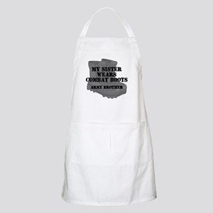 Army Brother Sister Combat Boots Apron