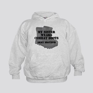 Army Brother Sister Combat Boots Hoodie