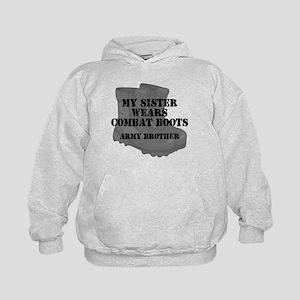 4c3e83a06a6 Proud Army Brother Kids Hoodies   Sweatshirts - CafePress