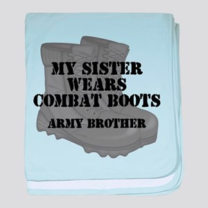 Army Brother Sister Combat Boots baby blanket