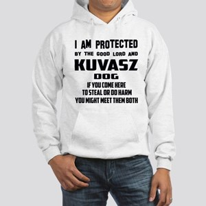 I am protected by the good lord Hooded Sweatshirt