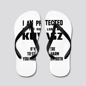 I am protected by the good lord and Kuv Flip Flops