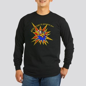 Mighty Mouse Save the Day Long Sleeve Dark T-Shirt