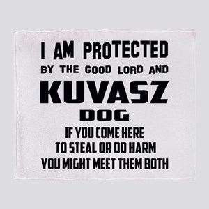 I am protected by the good lord and Throw Blanket