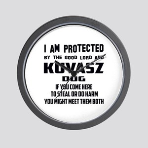 I am protected by the good lord and Kuv Wall Clock