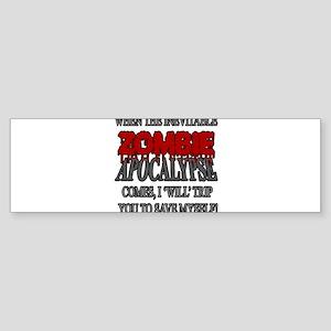 I Will Trip You Bumper Sticker