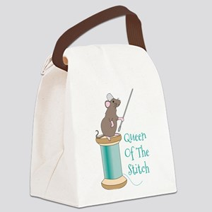 Queen of the Stitch Canvas Lunch Bag