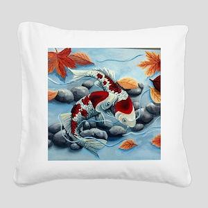 koi fish Square Canvas Pillow