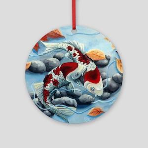 koi fish Round Ornament