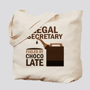 Legal Secretary Fueled By Chocolate Tote Bag