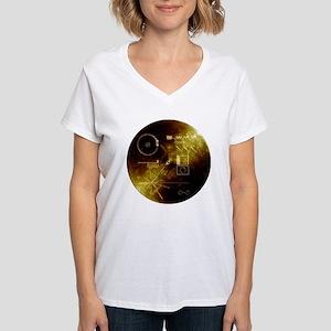 Voyager Golden Record Women's V-Neck T-Shirt
