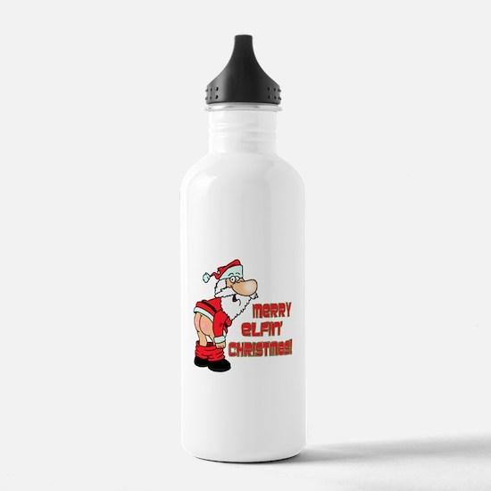 Merry Elfin' Christmas Water Bottle