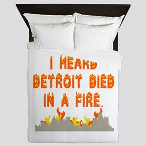 Detroit Queen Duvet