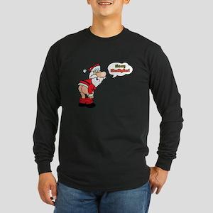 Merry KissMyAss Long Sleeve Dark T-Shirt
