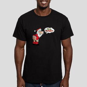 Merry KissMyAss Men's Fitted T-Shirt (dark)