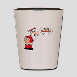 Merry KissMyAss Shot Glass