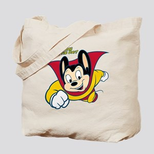 Officially licensed vintage Mighty Mouse, Tote Bag