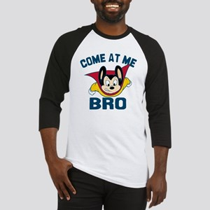 Mighty Mouse Come at Me Bro Baseball Jersey
