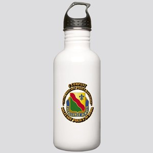 DUI - C Company - 787th MPB w Text Stainless Water