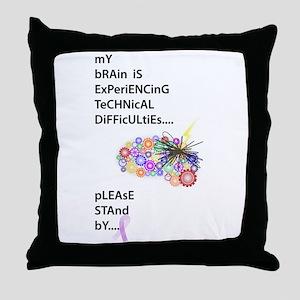 Tech Difficulties Throw Pillow