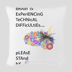 Tech Difficulties Woven Throw Pillow