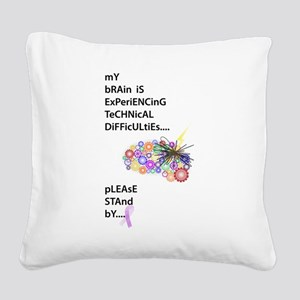 Tech Difficulties Square Canvas Pillow