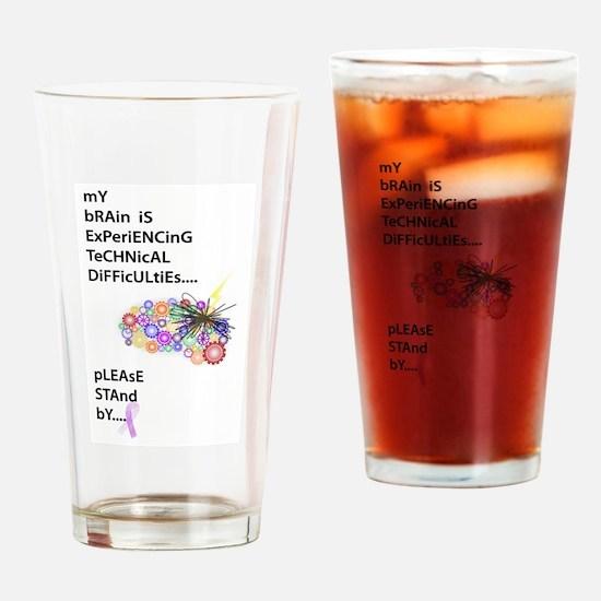 Tech Difficulties Drinking Glass