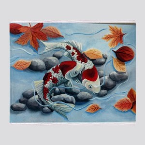 koi fish Throw Blanket