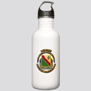 DUI - D Company - 787th MPB w Text Stainless Water
