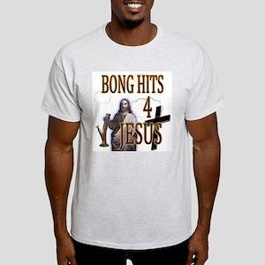 Bong Hits 4 Jesus Ash Grey T-Shirt