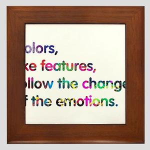 Colors of design Framed Tile