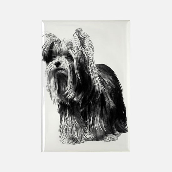 Pensive Yorky Rectangle Magnet