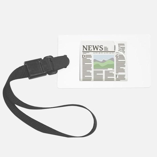 Newspaper Luggage Tag