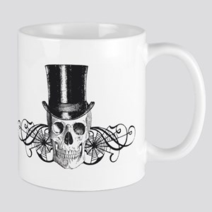B&W Vintage Tophat Skull Mug