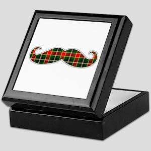 Red and Green Christmas Plaid Mustache Keepsake Bo