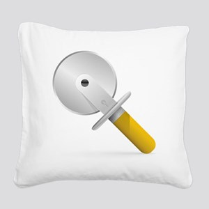 Pizza Cutter Square Canvas Pillow