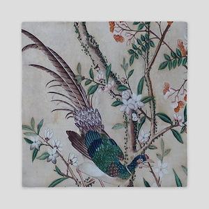 Asian pattern on wallpaper Queen Duvet