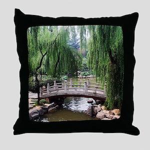 Asian garden, Throw Pillow