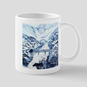 Asian pattern on porcelain Mugs